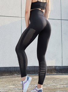Seamless Hollow Out Leggings-JustFittoo