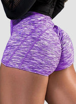 Load image into Gallery viewer, Scrunch Booty Breathable Pied Shorts