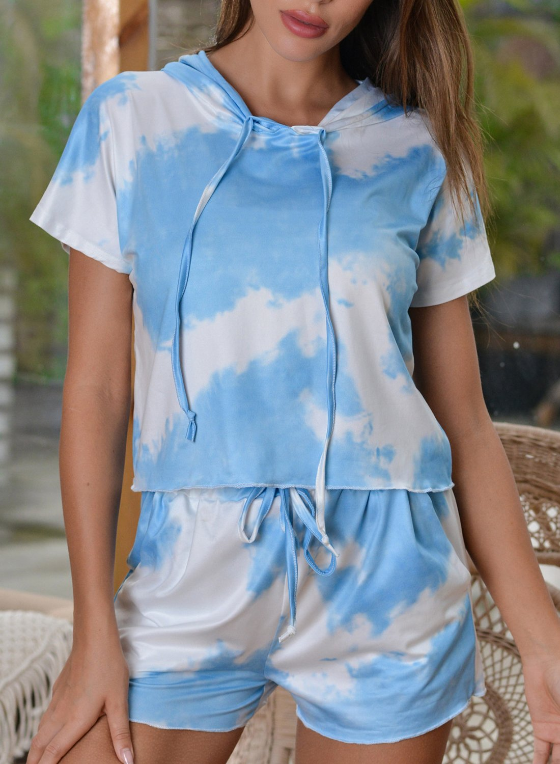 Comfy Tie-dyed T-shirt and Shorts