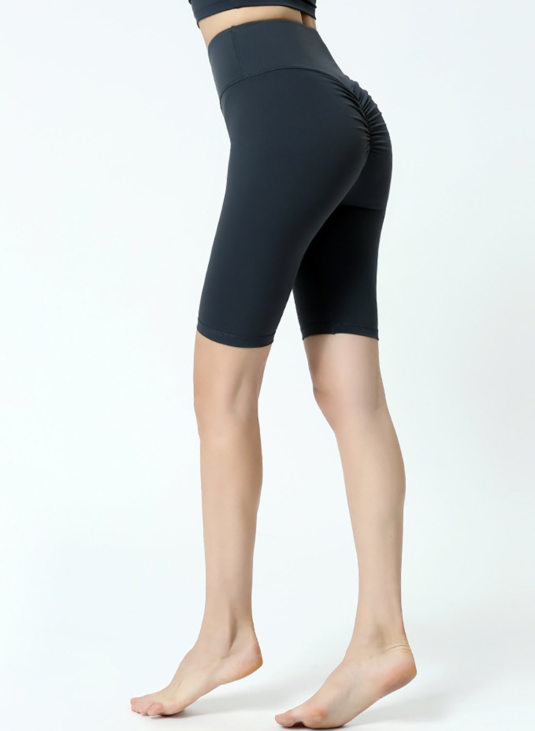 Women Workout Yoga Scrunch Butt Yoga Fifth Length Leggings