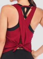 Load image into Gallery viewer, Back Criss-cross Slit Soft Vest