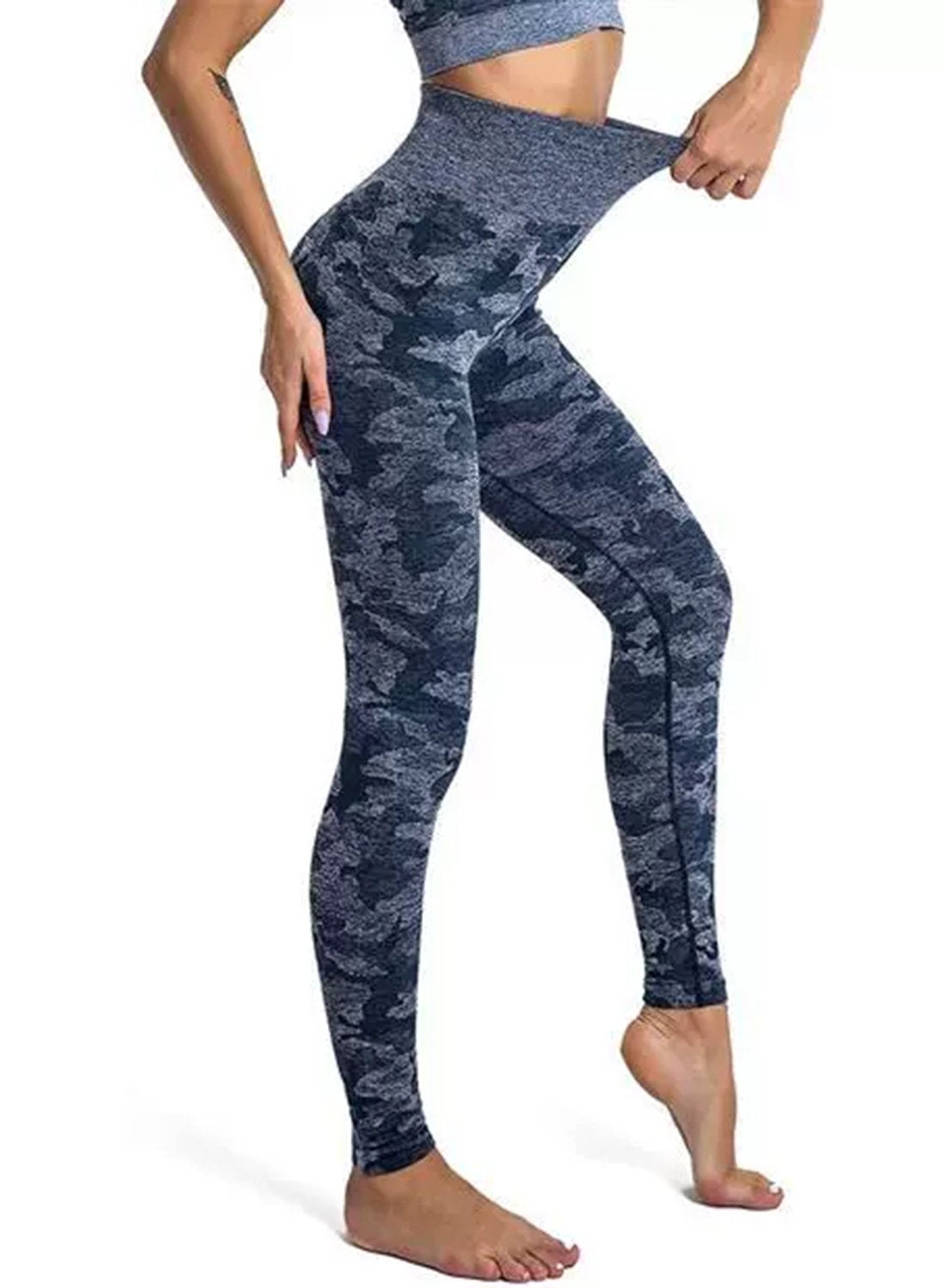Women's Camouflage Breatheable Soft Workout Yoga Pants-JustFittoo