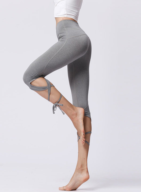 Popular Stripe Ballet Design Women Sports Legging-JustFittoo