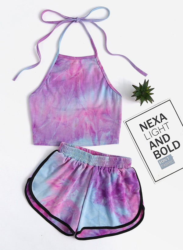 Tie-dyed Comfy Two Pieces Set