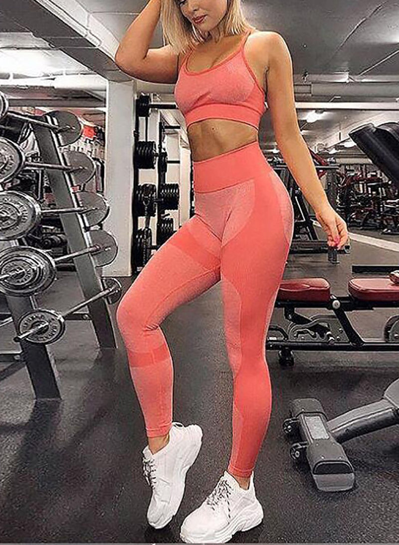 High Waist Women Two Piece Sports Bra and Legging