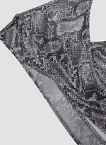 Load image into Gallery viewer, Backless Snake Print Top