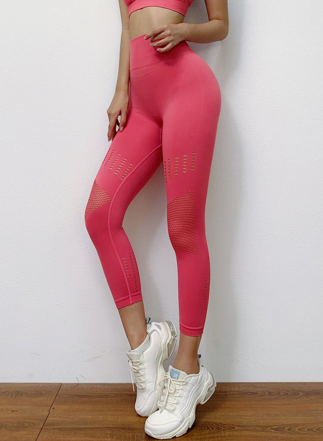 Hollow Out Seamless High Elastic Leggings-JustFittoo