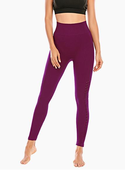 High Quality Solid Women Breathable Running Sports Leggings-JustFittoo