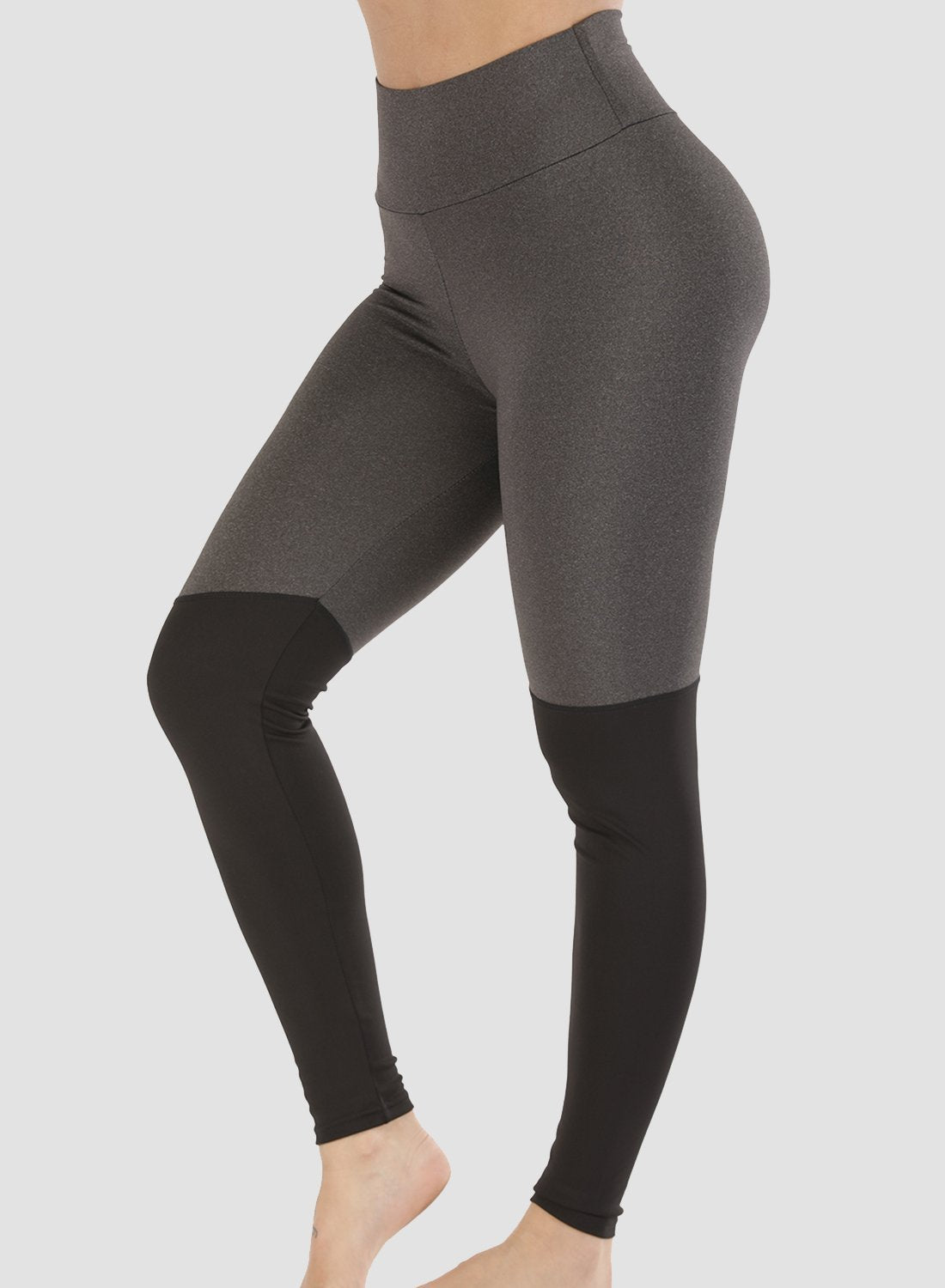 Two-tone Butt Lifting Tight Fit Leggings