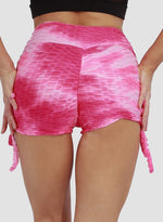 Load image into Gallery viewer, Textured Tie-dyed Push Up Shorts