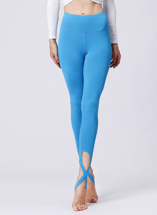 Solid Multiple Color Women Soft Stripe Ballet Yoga Leggings-JustFittoo