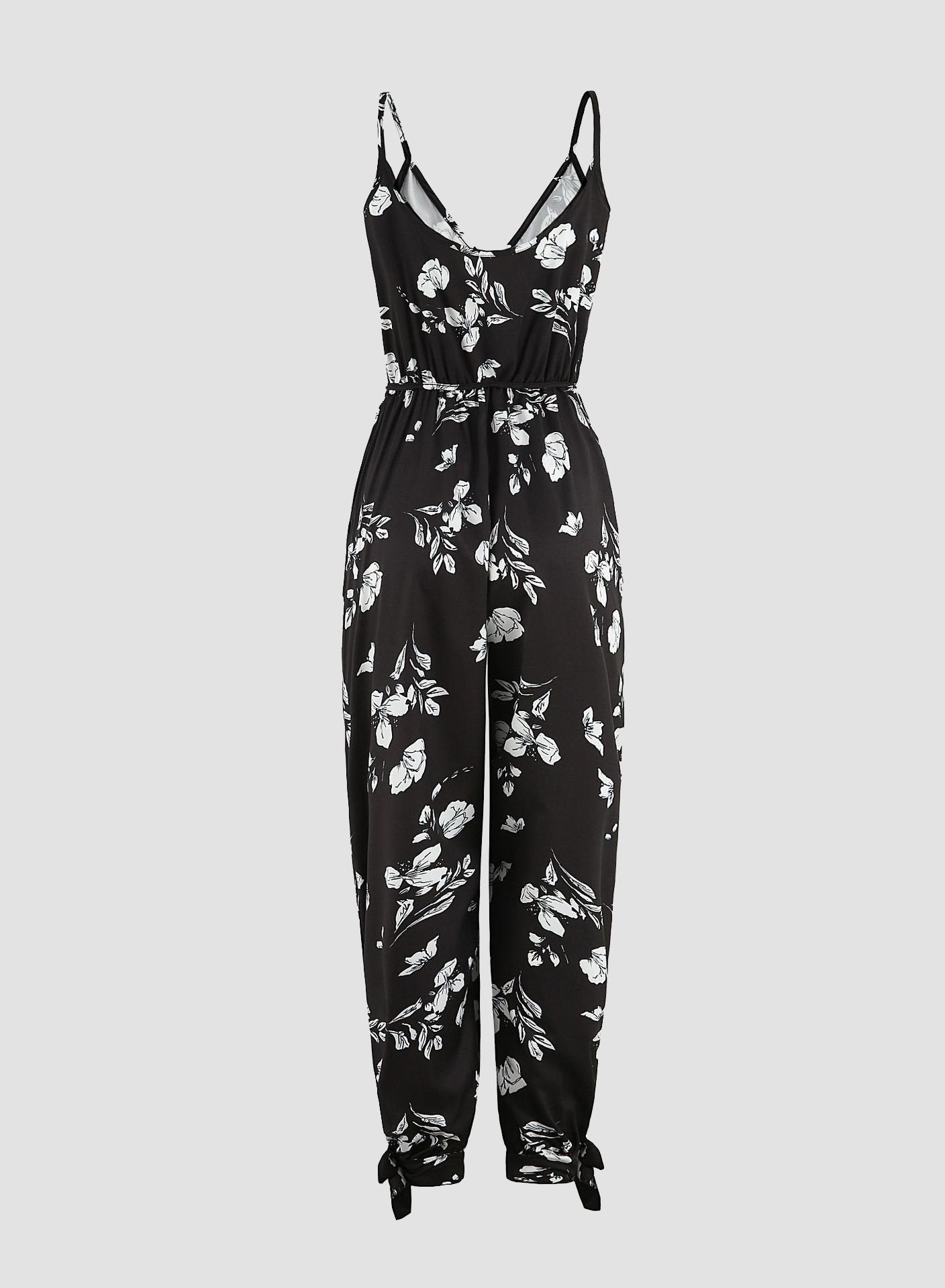 Plus Size 3XL V-neck Backless Sexy Jumpsuit