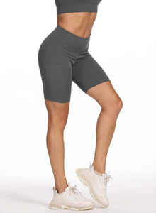 Women Solid Seamless Sports Shorts