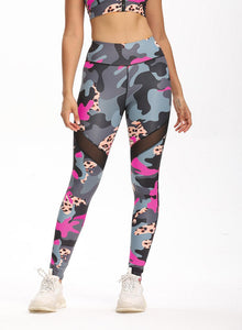 Women Camouflage Workout Fitness Sports Leggings-JustFittoo