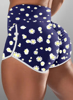 Load image into Gallery viewer, Scrunch Booty Daisy Breathable Shorts