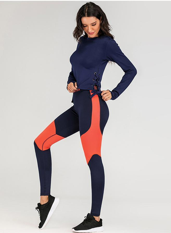 High Quality Long Sleeve Body Shape Women Sport Shirt and Legging-JustFittoo