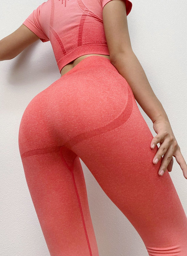 Seamless Hollow Out Tone in Tone Leggings