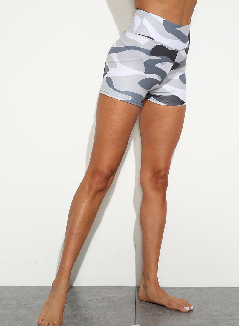Butt Lifting Breathable Camo Shorts