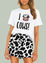 Load image into Gallery viewer, Animal Print Comfy T-shirt and Shorts
