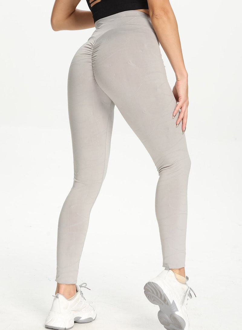 High Waist Squat Proof Ruched Women Gym Sport Legging-JustFittoo