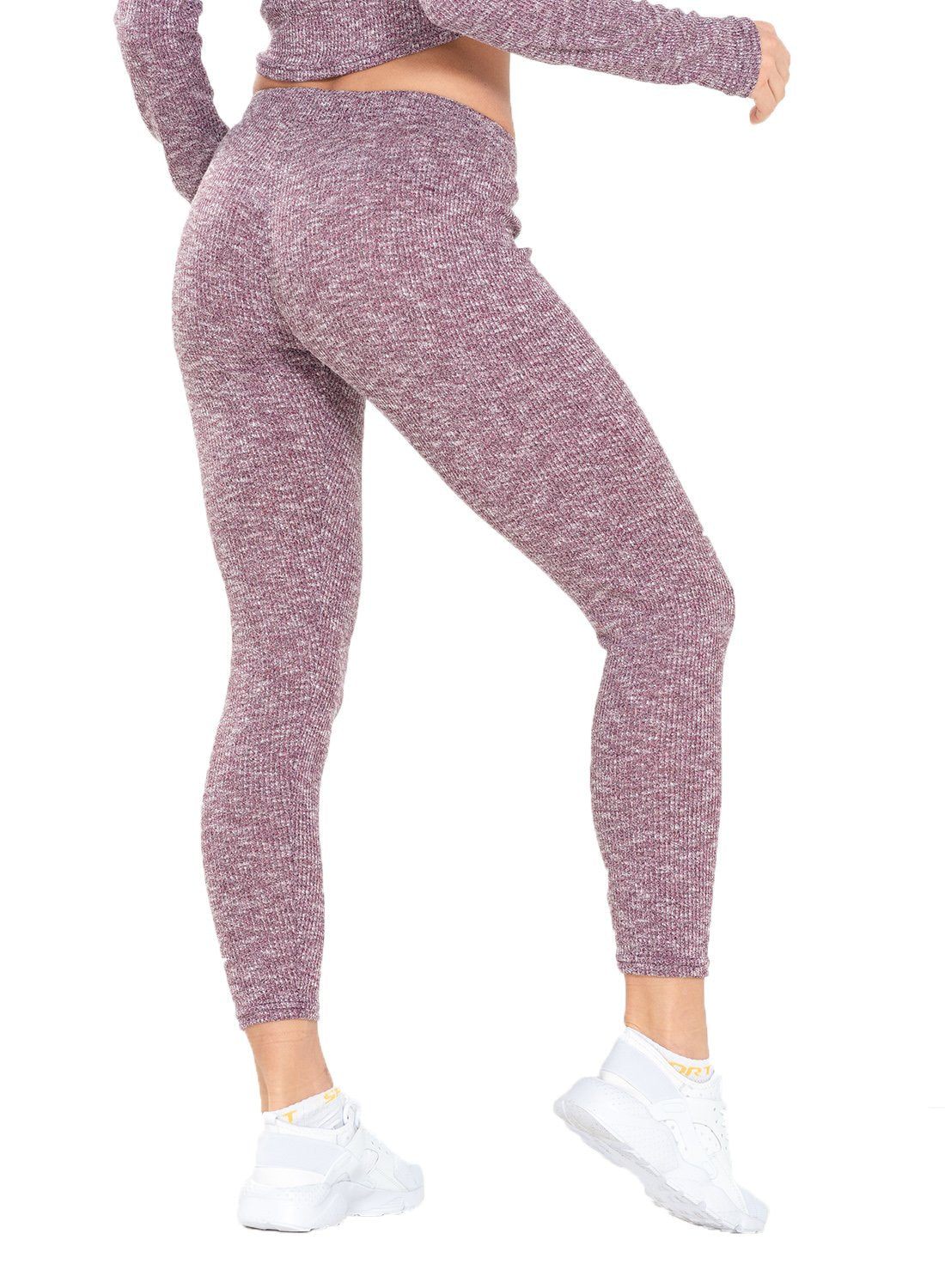 Knitted Comfortable Elastic Waistband Leggings-JustFittoo