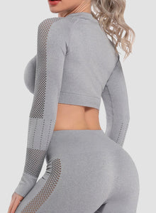 Seamless Hollow Comfy Tight Yoga Crop Tops