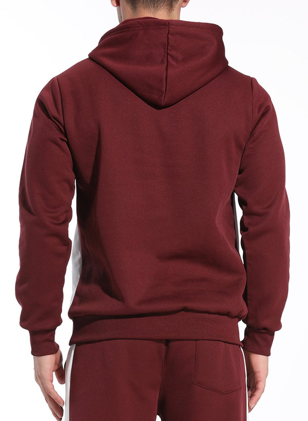 Men's Long Sleeve Velvet Thermal Hoodie