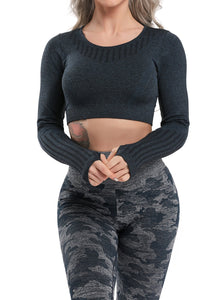 Fittoo Ultra Soft Seamless Hollow Yoga Tops