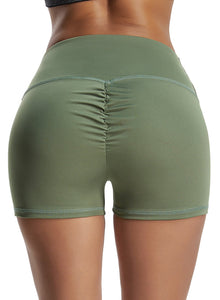 Solid Color Yoga Shorts for Women Workout