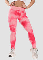 Load image into Gallery viewer, Women's Tie-dyed Textured Leggings-JustFittoo