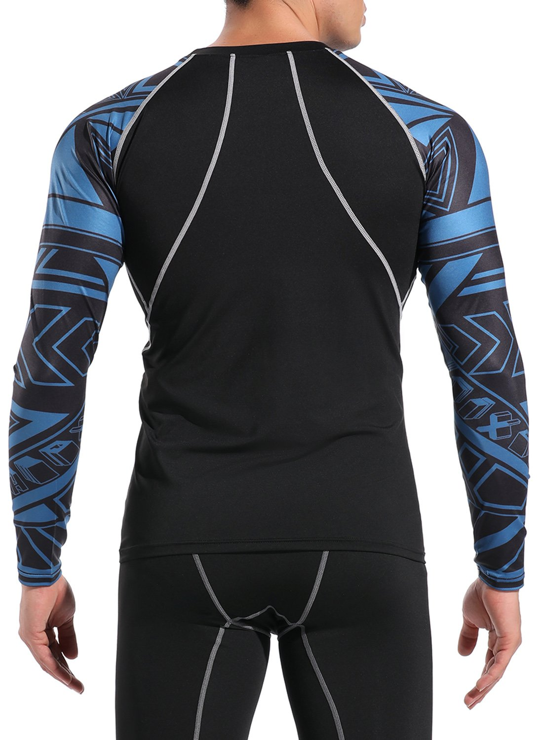 Men's Long Sleeve T-Shirt Dry Print Compression Top