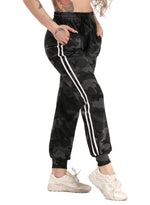 Load image into Gallery viewer, Camo Elastic Waistband Ankle-tied Casual Pants