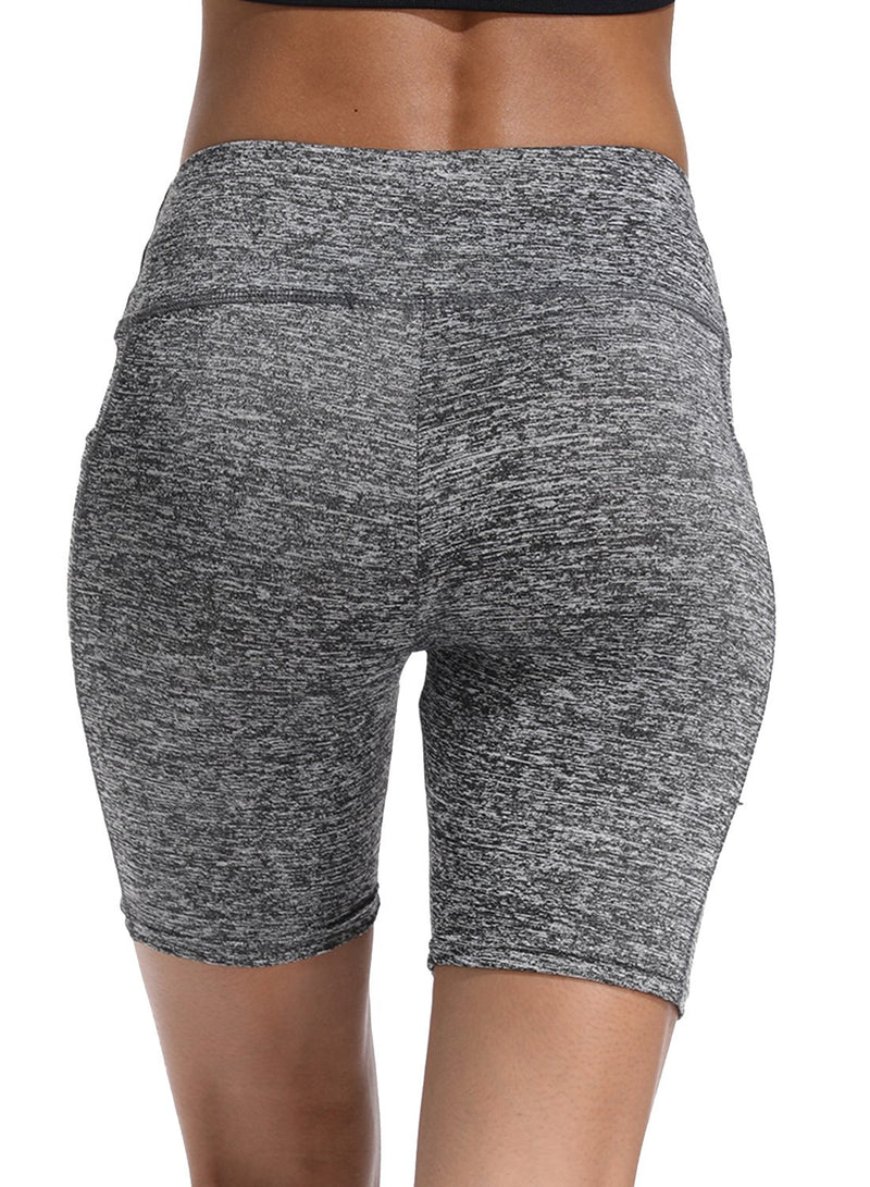 Solid Color Training Workout Yoga Shorts