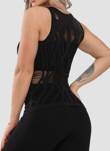 Hollow Out Seamless Breathable Yoga Vest