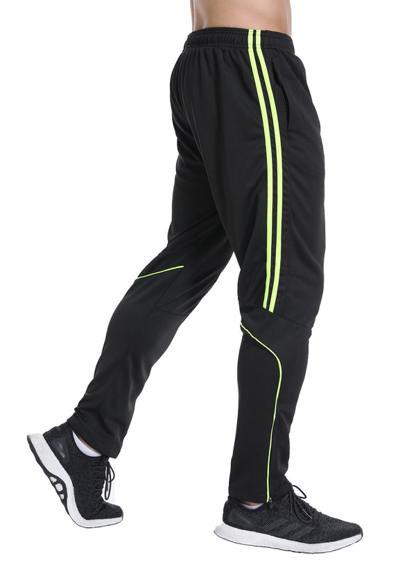 Men's Elastic Waistband Drawstring Yoga Pants with Side Stripes Sweatpants