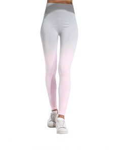 Gradient Color Training Seamless Workout Yoga Pants-JustFittoo