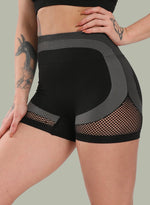 Load image into Gallery viewer, Mesh Hollow Two-tone Seamless Yoga Shorts