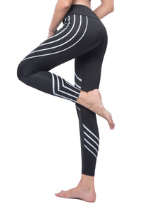 Women's Laser Print Tummy Control Yoga Pants-JustFittoo