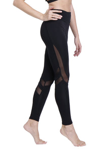 Irregular Mesh Stitching Yoga Pants for Women Fitness