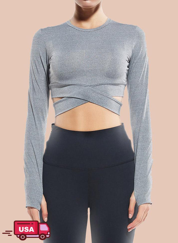 Long Sleeve Workout Fitness Yoga Tops