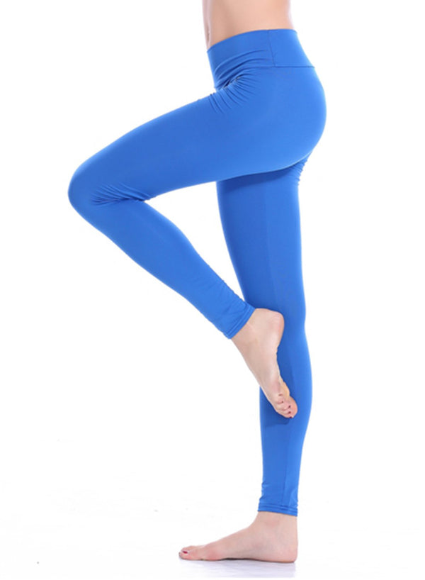 Women's Solid Color Workout Running Yoga Pants-JustFittoo