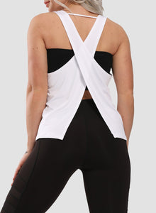 Back Criss-cross Slit Soft Vest