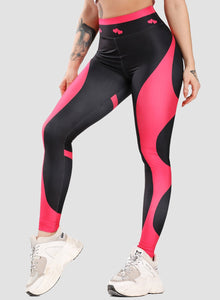 Two-tone Comfortable Heart-shaped Butt Leggings-JustFittoo