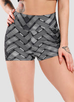 Load image into Gallery viewer, Ruched Butt Lifting Braided Print Shorts