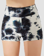 Load image into Gallery viewer, Tie-dyed Textured Ruched Shorts