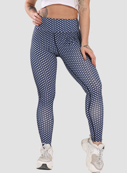 Plaid Elastic Waistband Tight Fit Leggings