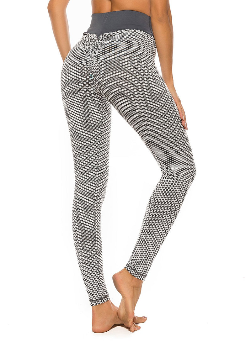FITTOO Famouse Tik Tok Scrunch Butt Lifting Grey Leggings-JustFittoo