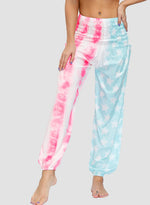 Load image into Gallery viewer, Pink Mint Green Beach Bohemia Tie Dyed Women Casual Bloomer