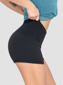Knitted Rib Waistband High Elastic Shorts