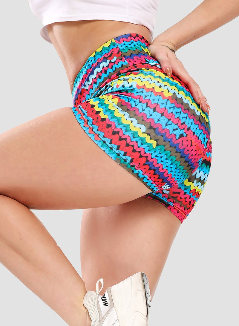Scrunch Booty Butt Lifting Multi-colored Shorts